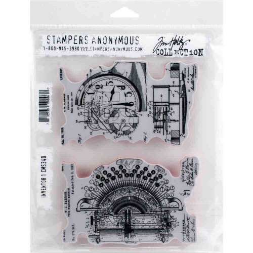 Tim Holtz: Red Rubber Stamp Set. Inventor 1