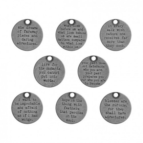 Tim Holtz quote tokens