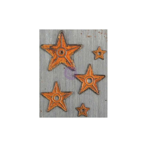 Finnabair Mechanicals Metal Embellishments - Barn Stars.