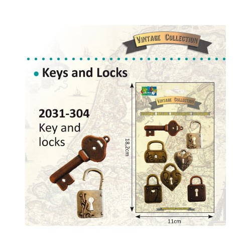 Vintage keys & locks - Vintage Collection.
