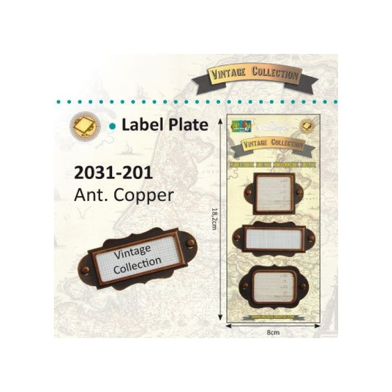 Vintage label plates - Vintage Collection