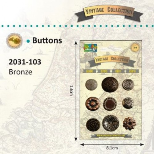 Vintage buttons bronze - Vintage collection.