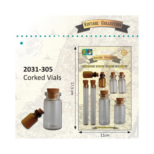 Vintage corked vials - Vintage collection.