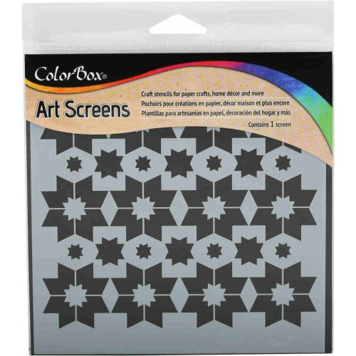 Stencil Star points 15x15 - ColorBox Art Screens