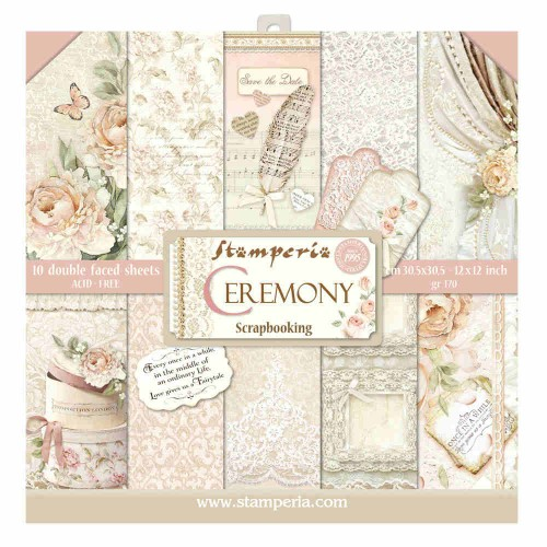 Kit de papeles de Scrapbooking Stamperia - Ceremony
