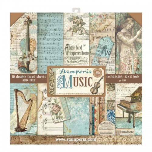 Kit de papeles de Scrapbooking Stamperia - Music