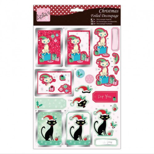Kit Decoupage con Foil Anita`s - Christmas Cats