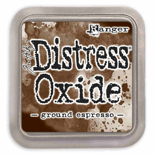 Tinta Distress Oxide Tim Holtz - ground espresso.