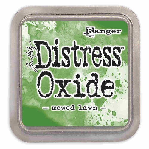 Tinta Distress Oxide Tim Holtz - mowed lawn.