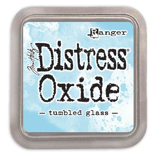 Tinta Distress Oxide Tim Holtz - tumbled glass.