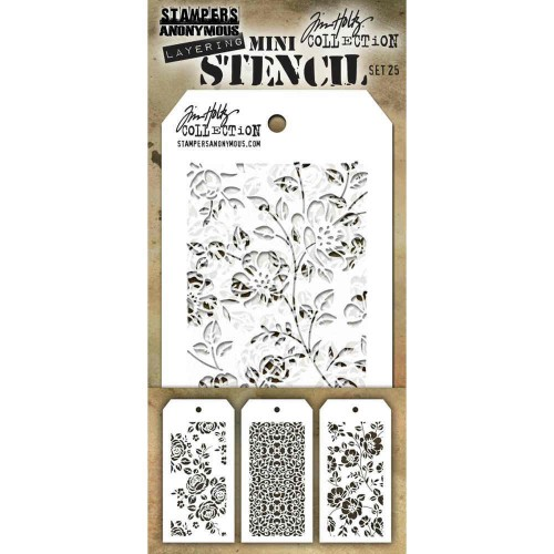 Kit Mini Stencil By Tim Holtz - Set 25