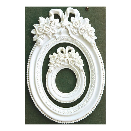 Prima Marketing Memory Hardware Resin Frames - Blanc Fleur Oval