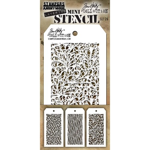 Kit Mini Stencil By Tim Holtz - Set 26