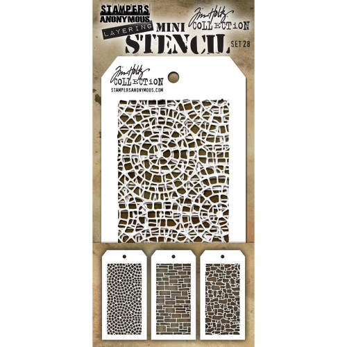 Kit Mini Stencil By Tim Holtz - Set 28