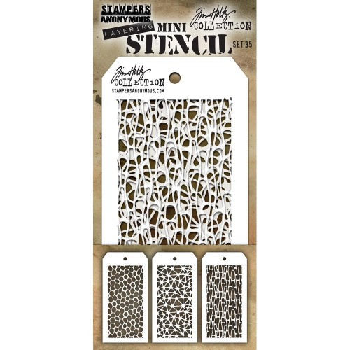 Kit Mini Stencil By Tim Holtz - Set 35