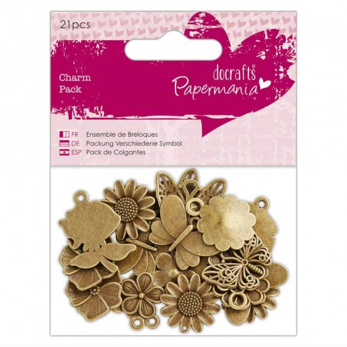 Adornos de metal Flowers & Butterflies - Papermania
