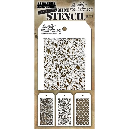 Kit Mini Stencil By Tim Holtz - Set 24