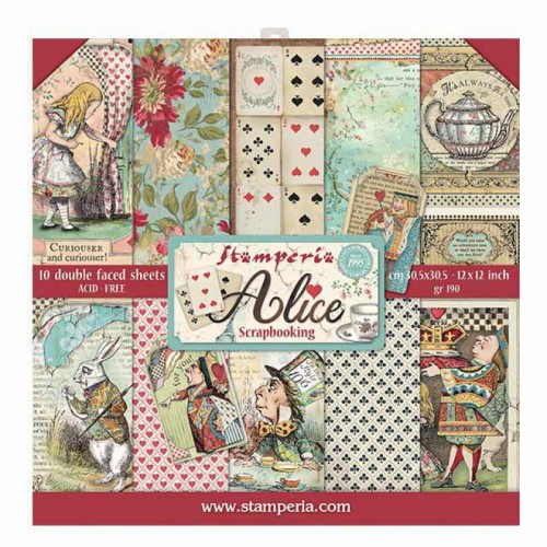 Kit de papeles de Scrapbooking Stamperia - Alice