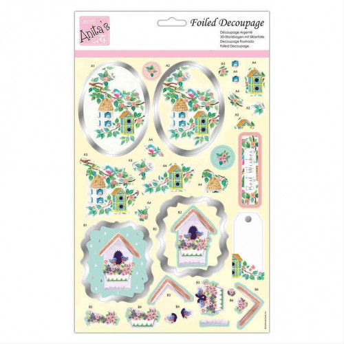 Kit Decoupage con Foil Anita`s - Bird Houses