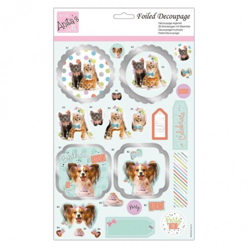 Kit Decoupage con Foil Anita`s - Party Animals