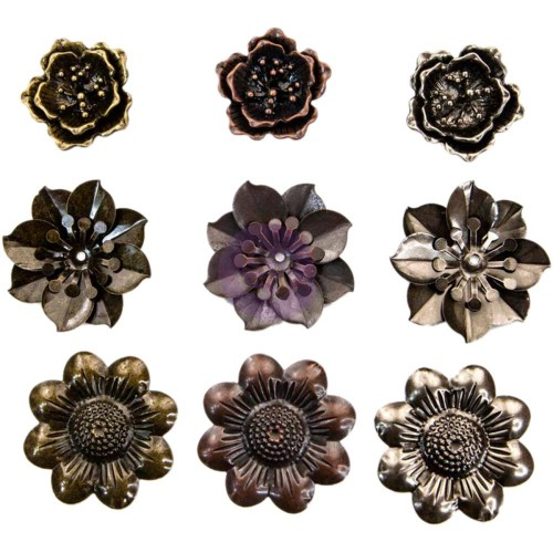 Finnabair Mechanicals Metal Embellishments - Flowers