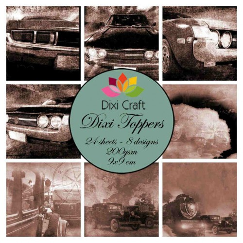 Ephemeras Dixi Craft - Retro Cars - Sepia