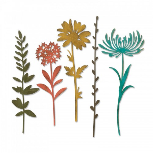 Kit de 5 Troqueles Thinlits Wildflower stems 1 by Tim Holtz