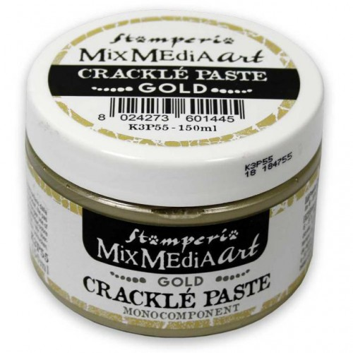 Gold Crackle Paste monocomponent 150 ml. Stamperia
