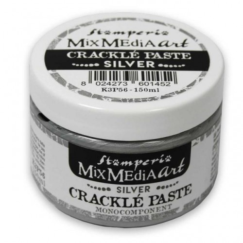 Silver Crackle Paste monocomponent 150 ml. Stamperia