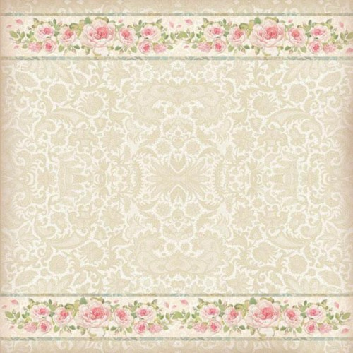 Papel de arroz Lace with roses - Stamperia