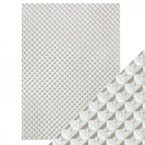 Kit de 5 papeles especiales Tonic - silver chequer