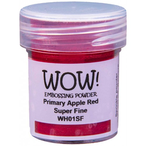 Polvos embossing WOW - PRIMARY APPLE RED Super fine