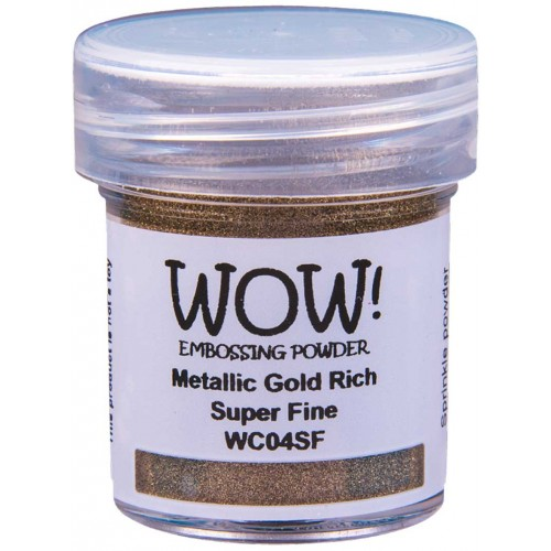 Polvos embossing WOW - GOLD RICH Super fine