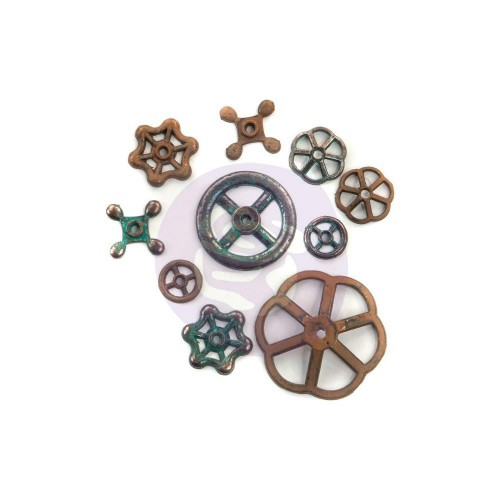 Finnabair Mechanicals Metal Embellishments Rusty Knobs