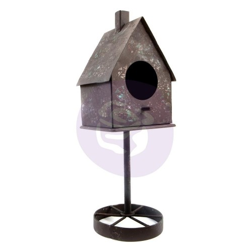 Prima Marketing Altered Metal Frame Rusty Bird House