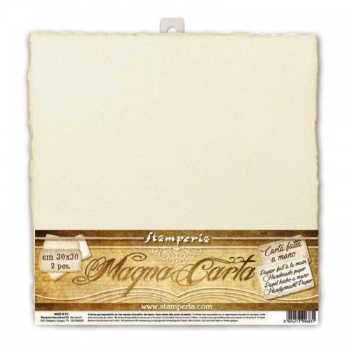 Papel Magna Carta hecho a mano color marfil - Stamperia