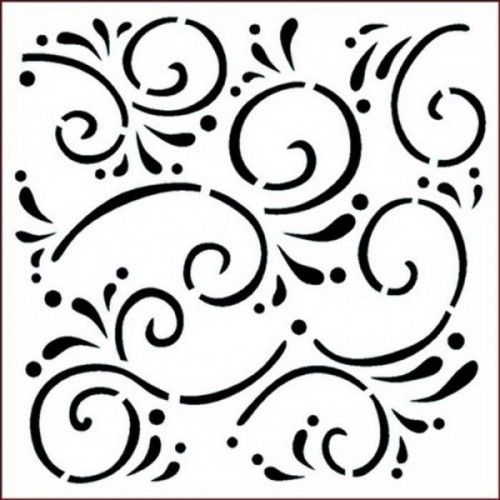 Stencil Imagination Crafts 15 x 15 Flourishes
