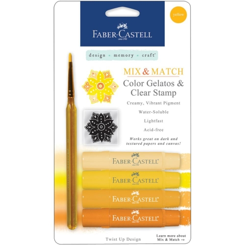 Mix & Match Gelatos Designer Series 4/Pkg - Yellow