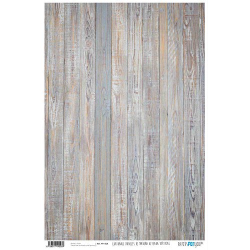 Papel Cartonaje Madera veteada vertical 32 x 48.3 cm. Papers For You
