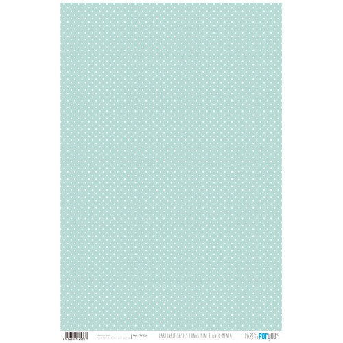Papel Cartonaje lunar mini blanco-menta 32 x 48.3 cm. Papers For You