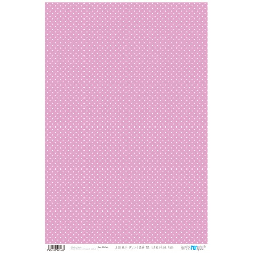 Papel Cartonaje lunar mini blanco-rosa palo 32 x 48.3 cm. Papers For You
