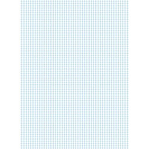 Papel Cartonaje mini vichy azul bebe 32 x 48.3 cm. Papers For You
