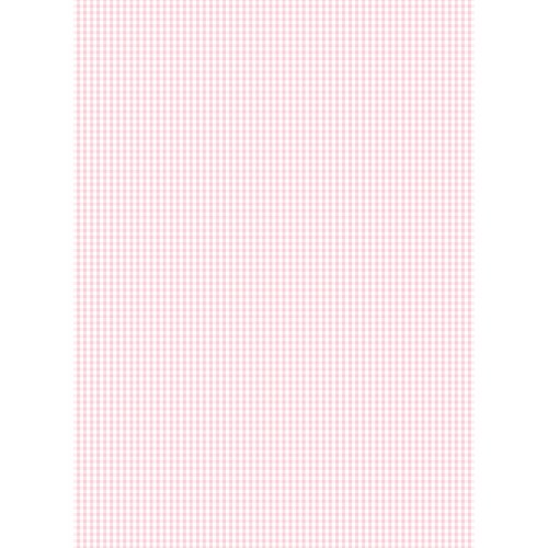 Papel Cartonaje mini vichy rosa bebe 32 x 48.3 cm. Papers For You