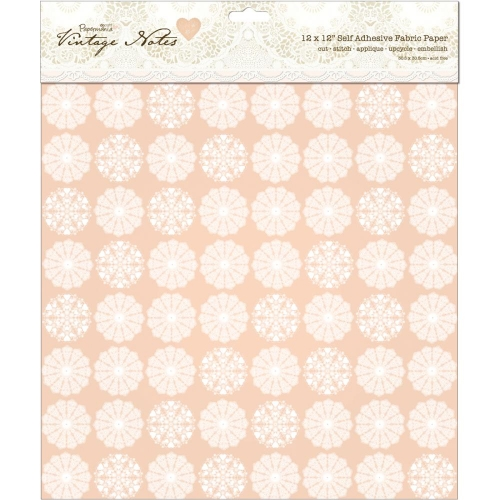 Papermania Vintage Notes Self-Adhesive Fabric Paper - Filigree
