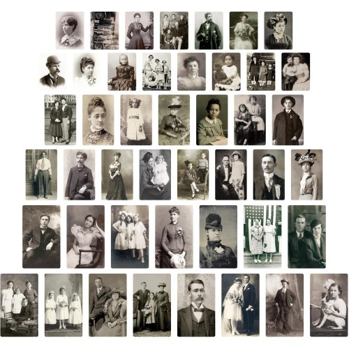 Idea-Ology Found Relative Vintage Portraits - Tim Holtz