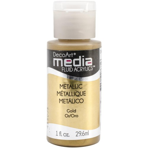 Decoart Media Fluid Acrylic Paint - Gold