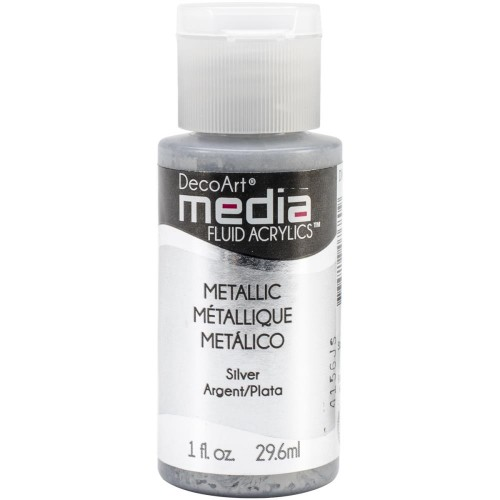 Decoart Media Fluid Acrylic Paint - Silver