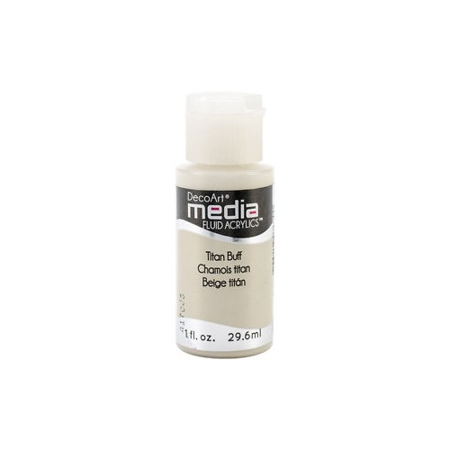 Decoart Media Fluid Acrylic Paint - Titan Buff