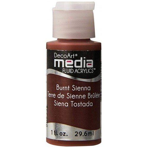 Decoart Media Fluid Acrylic Paint - Burnt Sienna