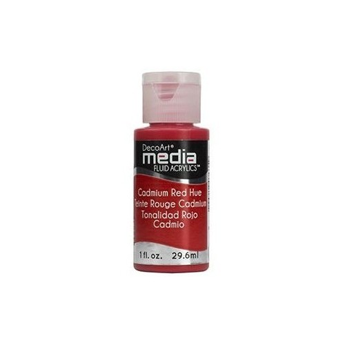 Decoart Media Fluid Acrylic Paint - Cadmium Red